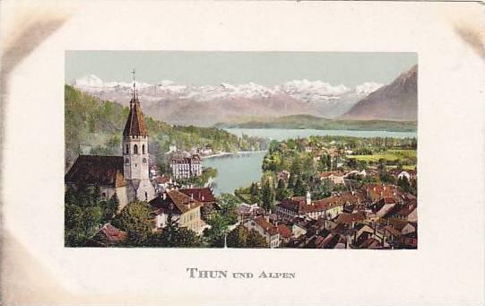 Aerial View, THUN und Alpen, Berne, Switzerland, 10-20s