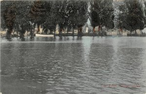 H83/ Nampa Idaho Postcard c1910 Lake Ethel Boats Shoreline 51