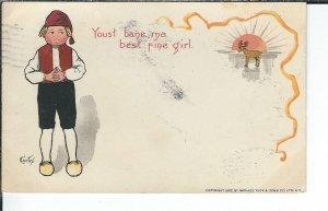 AX-117 - Dutch Boy Artist Signed by Curtis Postcard Undivided Back 1901-07 Tuck