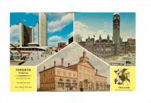 Scenic view showing the new the old and the Historic City Hall, Toronto, Onta...
