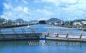 Modern Super Cargo Ship Panama Canal Panama 1979