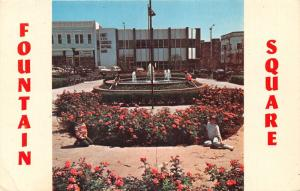 Somerset Kentucky~Fountain Square~Little Children by Flowers & Fountain~1960s Pc