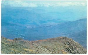 USA, View from top of MOUNT WASHINGTON, White Mountains, NH, used Postcard