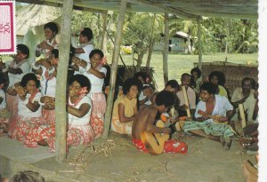 FIJI; Village Entertainment, Fijian People, Meke sessions, PU-1986