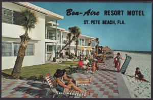 Bon Aire Resort Motel,St Petersburg Beach,FL Postcard