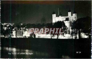Modern Postcard The Tower of London by Night