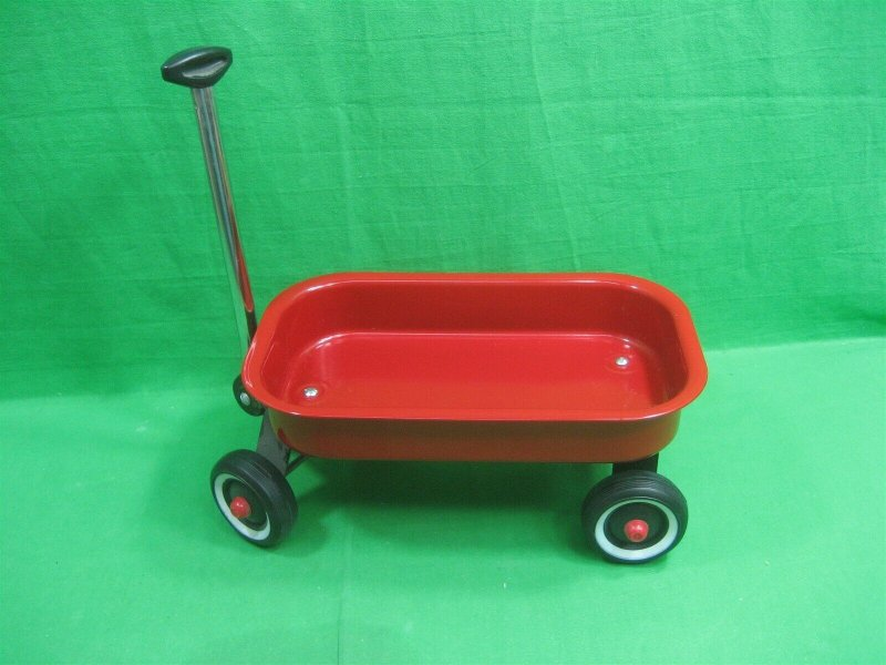 Mini Red Wagon ~ Doll Size ~ 12.5 Inches Long