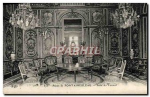 Old Postcard Palais De Fontainebleau Room From Board