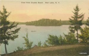 Albertype 1920s Star Lake New York View Crystal Beach Young hand colored 9741