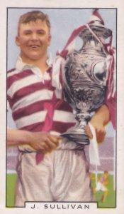 J Sullivan Wigan Welsh Football International 1930s Cigarette Card