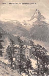 Switzerland Riffelalphotel und Matterhorn Berg Mountains Landscape