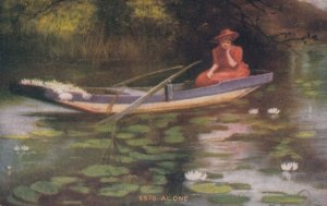TENNESSEE, Illinois, 1911; Woman Alone in Canoe