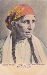 POLAND , 1901-07; Woman ; Ciganka, Wrozka.-Czigane, Diseuse de bonnie aventure