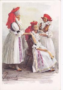 AS; CZECH REPUBLIC: Nationales types de peuples, Hanaques de Moravie peints p...
