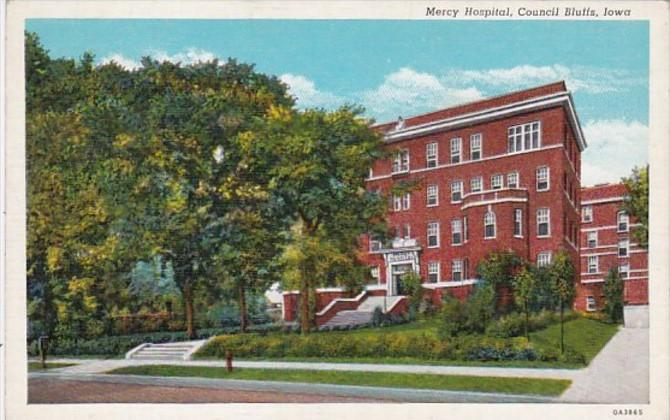 Iowa Council Bluffs Mercy Hospital Curteich