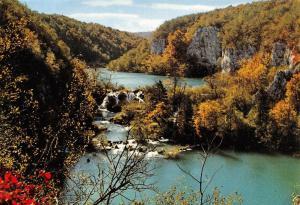 Croatia Plitvicka Jezera Cascade The Milka Trnina Waterfall Plitvice Lakes