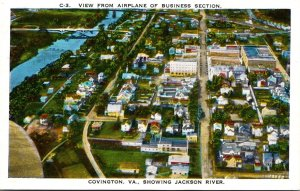Virginia Covington Airplane View Of Business Section and Jackson River
