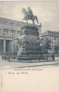 Gruss aus Berlin , Germany, 1890s ; Denkmal Freidrich des Grossen