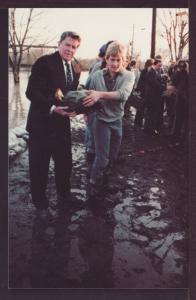 Ronald Reagan in Fort Wayne IN Post Card 3343