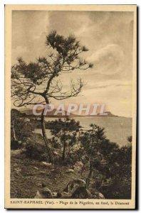 Postcard Old Saint Raphael Var Beach of the Dramont P?gui?re deep