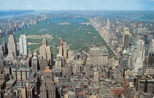 US New York City, North RCA Building, toward Central Park and upper Manhattan