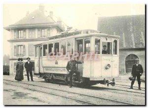 Post Modern Tram Card This February 2nd, 12 of Jorat railways Chalet has Gobet
