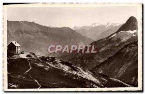 Old Postcard Col d & # 39Allos Refuge