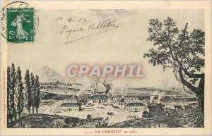 Old Postcard Le Creusot in 1782