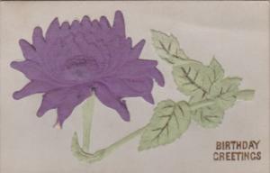 Birthday With Purple Flower