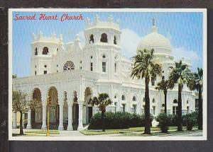 Sacred Heart Church Galveston TX Postcard BIN
