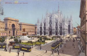 Piazza Del Duomo, Milano (Lombardy), Italy, PU-1910