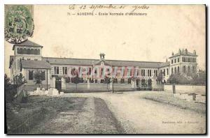 Old Postcard Auxerre Normal School for Teachers