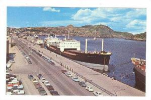 Canadian and foreign ships fill the berths in St.John's, Newfoundland,40-60s