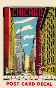CHICAGO, Illinois, 1950s; State Street, Post Card Decal