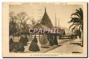 Old Postcard Pavilion of New Caledonia in 1931 Paris International Colonial E...