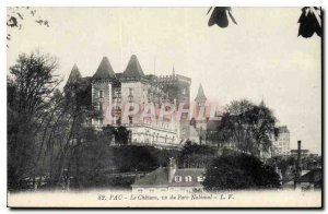 Old Postcard Pau Chateau seen from National Park