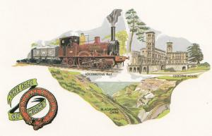 The Isle Of Wigan Central Railway Train To Blackgang Chine Postcard