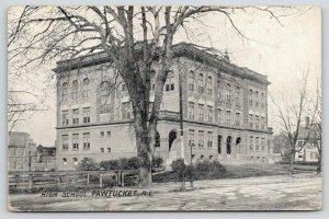 Pawtucket Rhode Island~High School~For Sale Sign Inside Fence~House~1909 B&W PC