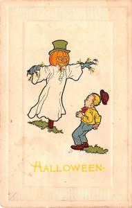 Halloween Post Card Old Vintage Antique Gibson postal used unknown