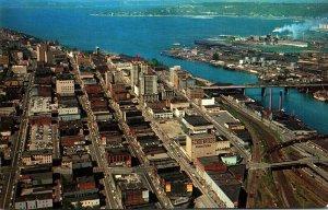 Washington Tacoma Aerial View Looking North
