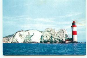 Postcard Needles Lighthouse Chalk Cliffs England   # 3365A