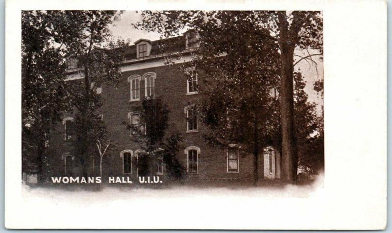 1910s FAYETTE, Iowa Postcard WOMANS HALL, U.I.U. Dorm Upper Iowa University