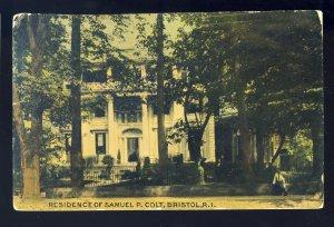 Bristol, Rhode Island/RI Postcard, Residence Of Samuel P. Colt