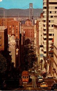 California San Francisco California Street Cable Car 1966