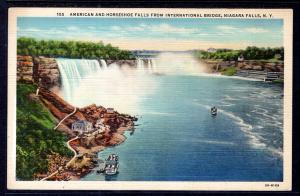 American and Horseshoe Falls,From Bridge,Niagara Falls.NY