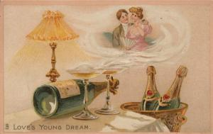 TUCK # 123; 1900-10s; Couple in Wine mist, Love's Young Dream
