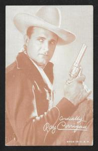 ARCADE CARD Cowboy Entertainer Ray Corrigan *AUTOGRAPHED*