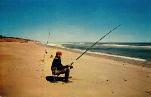 MA - Cape Cod. Early Fisherman on the Beach