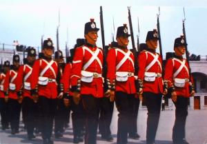 Old Fort Henry - Kingston, Ontario - Guards in fours