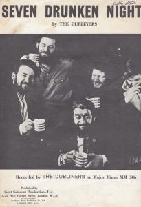 Seven Drunken Nights The Dubliners 1960s Sheet Music